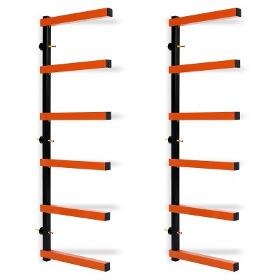 Lumber Storage Rack Wall-Mounted both Indoor and Outdoor
