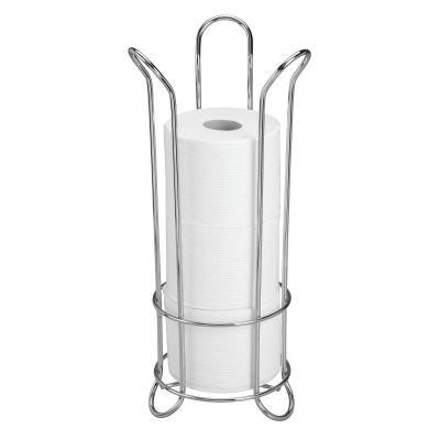 iDesign Classico Metal Toilet Tissue Roll Reserve Organizer for Bathroom