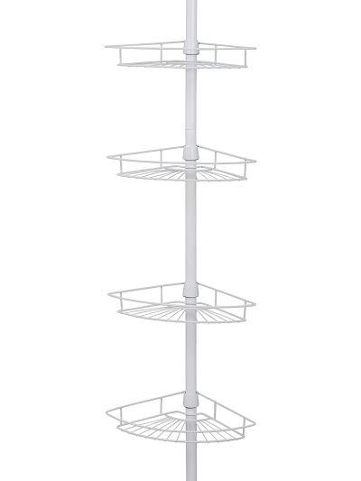 Zenna Home Pole Shower Caddy, White