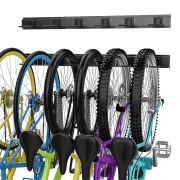 Bike Storage Rack, 6 Bike Hooks for Garage Space-Saving