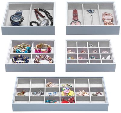 Magic Stackable Jewelry Trays Closet Dresser Drawer Organizer