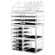 HBlife Acrylic Jewelry and Cosmetic Storage Drawers