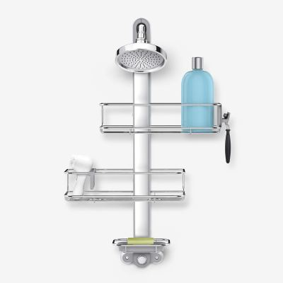Shower Caddy, Stainless Steel and Anodized Aluminum