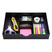 CAXXA 3 Slot Drawer Organizer with Two Adjustable Dividers