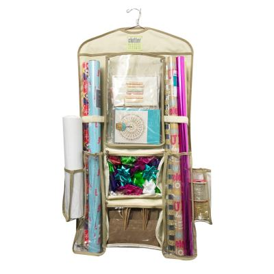 Clutter Keeper Deluxe Hanging Gift Wrap Storage Organizer