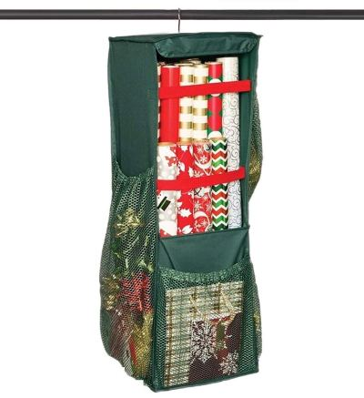 Hanging Wrapping Paper Storage - Holds Up to 20 Rolls