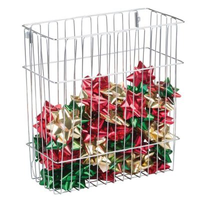 Wall Mount Holiday Organizer Basket for Wrapping Paper