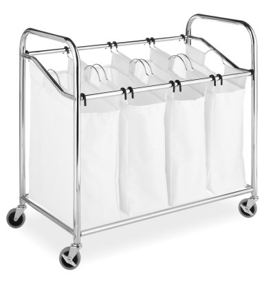 Whitmor 4 Section Rolling Laundry Sorter