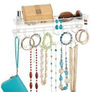 mDesign Decorative Metal Closet Wall Mount Jewelry Accessory
