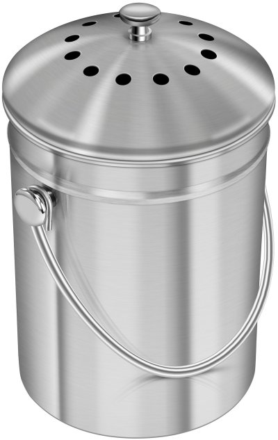 Compost Bucket for Kitchen with Lid Charcoal Filter