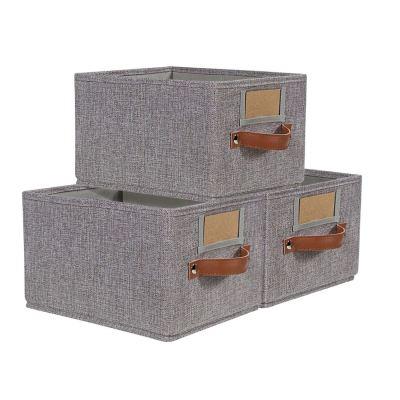 Foldable Storage Baskets for Shelves Set of 3, Fabric Storage Bins