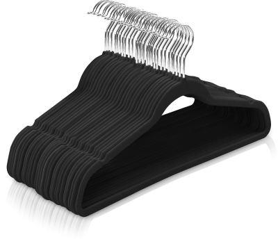 Premium Non Slip Velvet Hangers 360-degree rotatable Hook