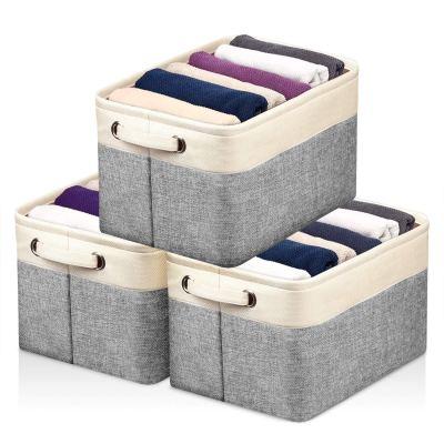 Storage Baskets for Closet Fabric Storage Bins for Shelves