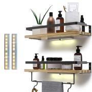 Rustic Floating Shelves Wall Mounted Set