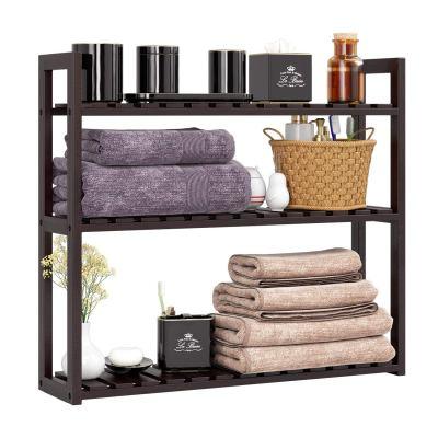 HOMFA Bamboo Bathroom Shelf 3-Tier, Multifunctional Adjustable Layer