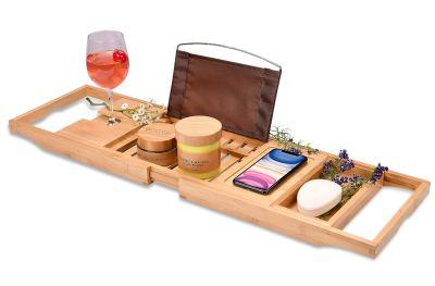 Bamboo Bathtub Tray - Perfect Expandable Bathtub Caddy
