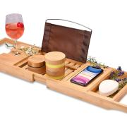 Bamboo Bathtub Tray - Perfect Expandable Bathtub Caddy