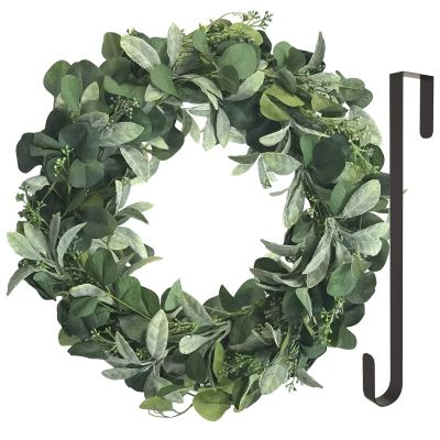 Uptown Styling: Front Door Wreath with Wreath Door Hanger