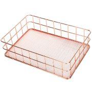 Stainless Steel Metal Wire Storage Baskets for Kitchen Shelf