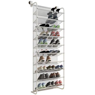 TZAMLI 10-Tier Shoe Rack Over The Door Shoe Organizer