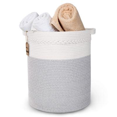 StarHug Large Woven Storage Basket - 20 x 18 inch Laundry Hamper