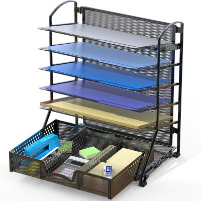 Document File Tray Organizer with Supplies