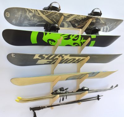Snowboard Ski Hanging Wall Rack