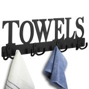 Towel Rack 8 Hooks Towel Holder & Organizer Wall Mount