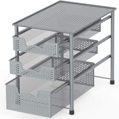 Tier Sliding Basket Organizer Drawer