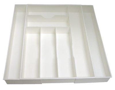 White Expanding Kitchen Drawer Organizer