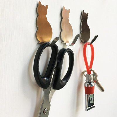 Little Pets Wall Hooks Self Adhesive Key Storage