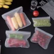 Silicone Ziplock Food Storage Bag Container