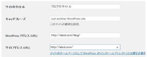 wordpressサイトアドレス変更