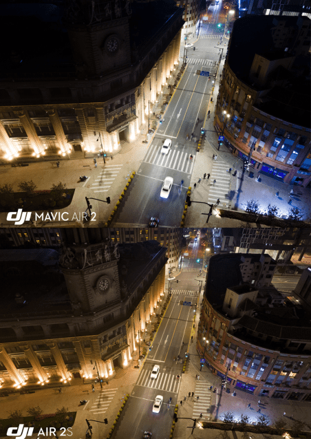 The DJI Air 2S is able to capture more details in the shadows when compared to the DJI Mavic Air 2 bigger sensor