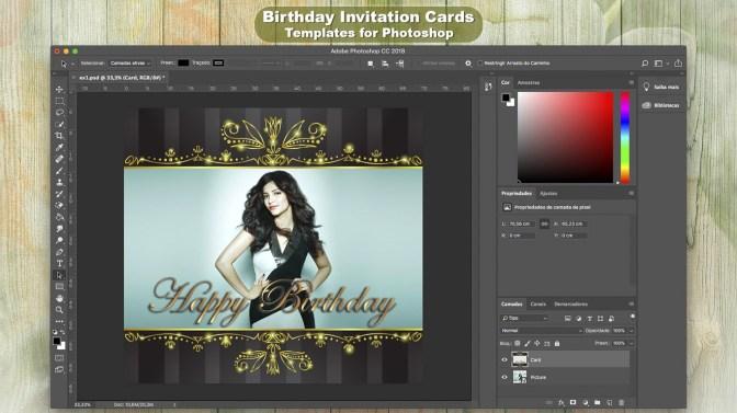 Birthday Invitation Cards Templates For Photoshop Kaufen Microsoft Store De De