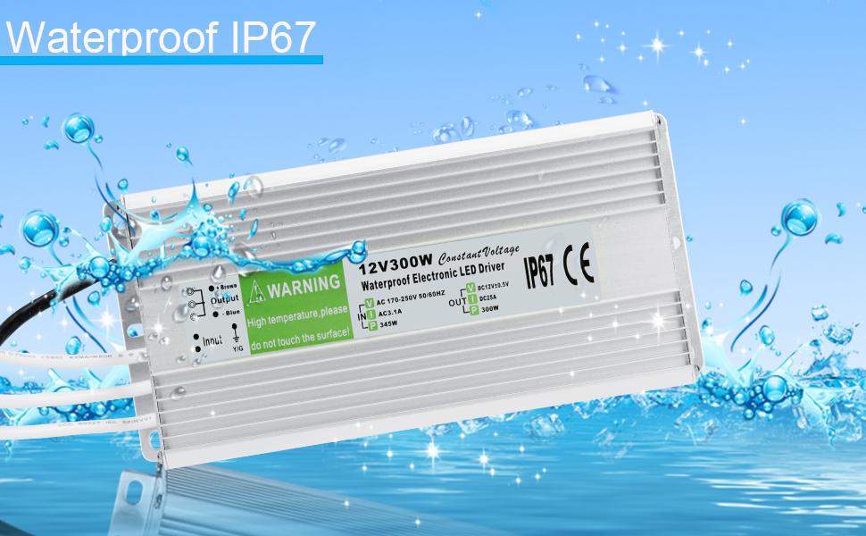 Waterproof IP67 Power Supply 12V Transformer Adapter 09
