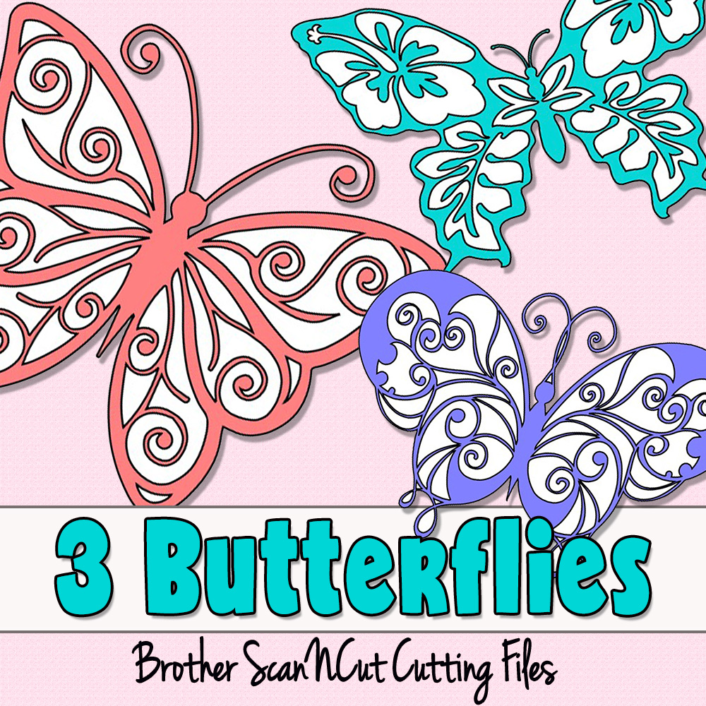 Download 3 Butterflies - Brother ScanNCut Cutting Files