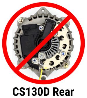 AC130SE180  Hybrid Alternator, 180 Amp, OneWire, Replaces 10DN, 10Si, 12Si