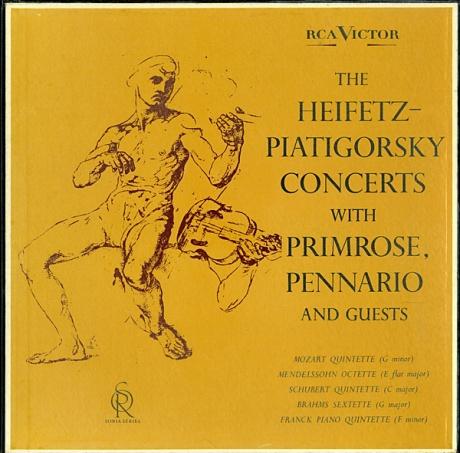 GB RCA LDS6159 ハイフェッツ&ピアティゴルスキー&プリムローズ&ペナリオ 室内楽曲集
