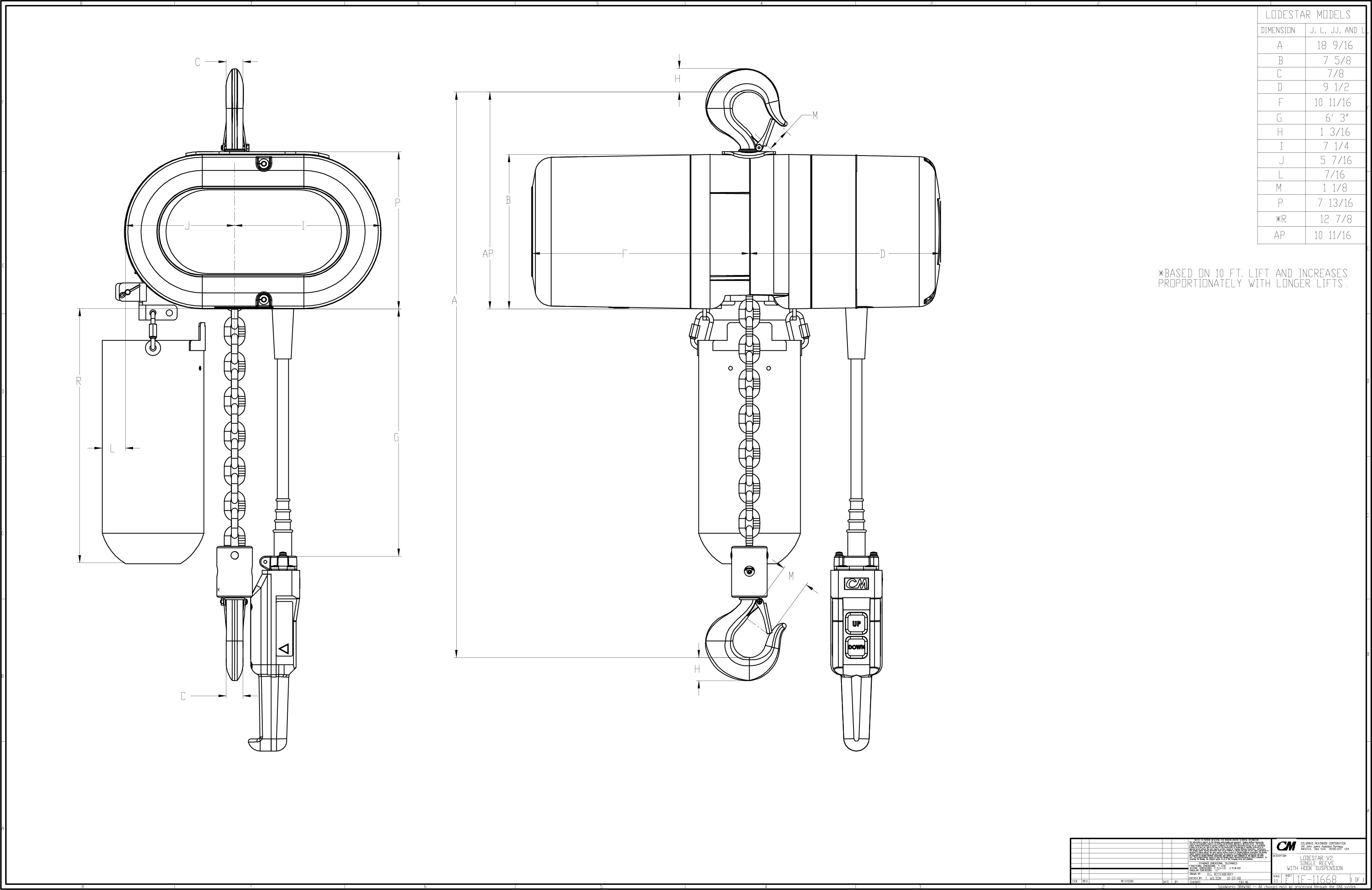 Free Hoists 2d And 3d Cad Models And Drawings