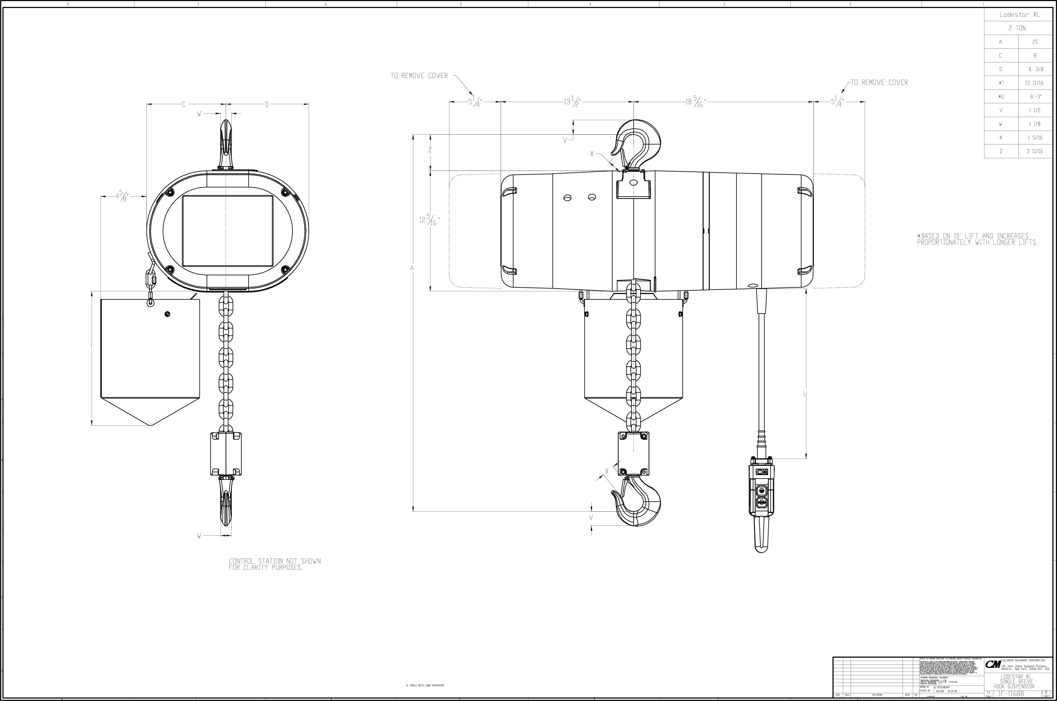 1 Ton Cm Chain Hoist Wiring Diagram