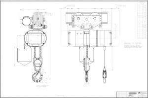 Product Code 5221M, CM Lodestar XL Electric Chain Hoist