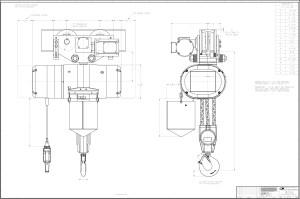 Product Code 5227M, CM Lodestar XL Electric Chain Hoist, 230460360, Motor Driven Trolley On