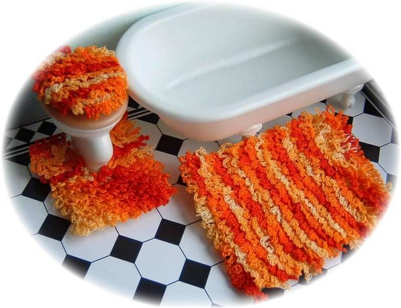 pattern for dolls house bath mats