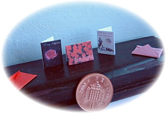 miniature Valentine cards