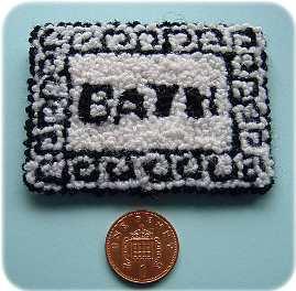 Kit to make a dolls house rug