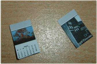 making miniature calendar