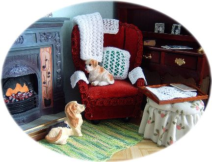 miniature knitting for dolls house