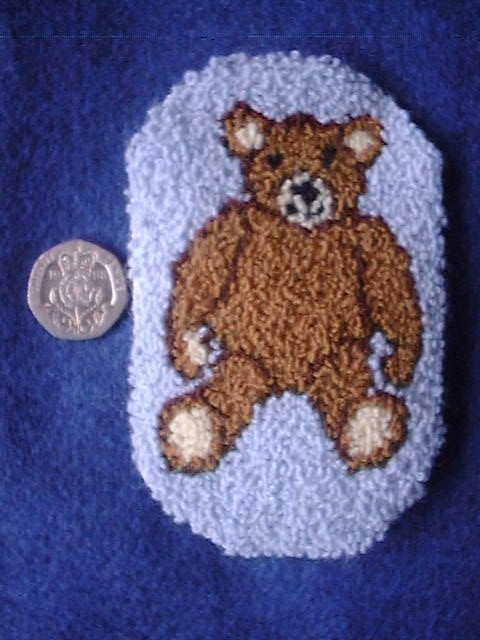 Teddy rug kit from Buttercup Miniatures