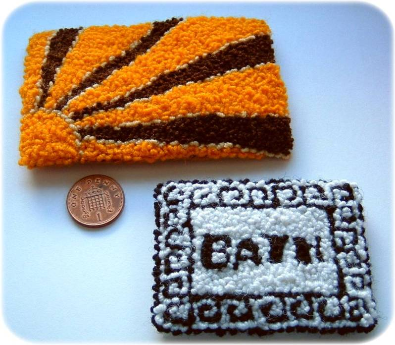 miniature rug kits from Buttercup Miniatures
